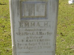 Emma M <I>Harley</I> Easterling