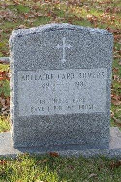 Adelaide <I>Carr</I> Bowers