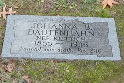Johanna <I>Klittich</I> Dautenhahn