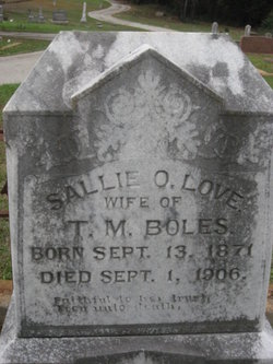 Sallie O <I>Love</I> Boles
