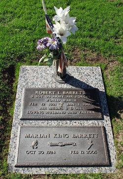 Marian Ruth <I>King</I> Barrett