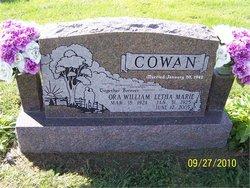 Letha Marie <I>Hudson</I> Cowan
