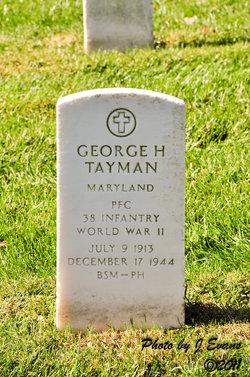 PFC George H Tayman