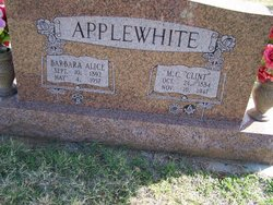 "M. C. ""Clint"" Applewhite"