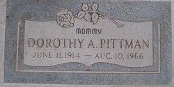 Dorothy A <I>Wilder</I> Pittman
