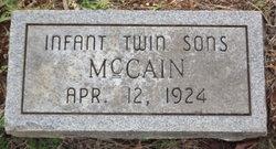 Infant Twins McCain