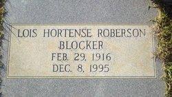 Lois Hortense <I>Roberson</I> Blocker