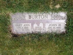 Mary Annie <I>Carter</I> Burton