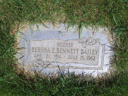 Bertha Elizabeth <I>Bennett</I> Bailey