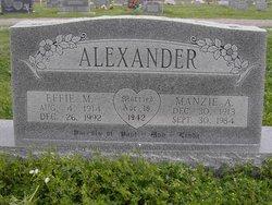 Manzie A. Alexander