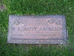 """M B """"Happy"""" Anderson"""