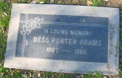 Bess Alberta <I>Porter</I> Adams
