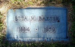 Etta Martha <I>Martin</I> Baxter