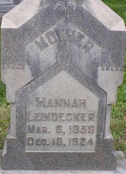 Hannah <I>Keiper</I> Leindecker