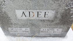 Minnie Day <I>Jones</I> Adee