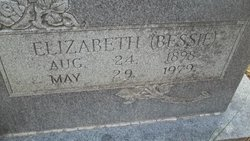 """Elizabeth Blanche """"Bessie"""" <I>Wheat</I> Williamson"""