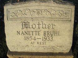 """Fredericka Nannetta Emilie """"Nettie"""" <I>Jung</I> Bruhl"""