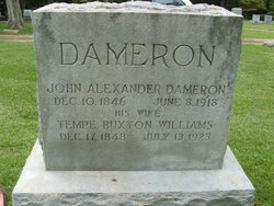 """Temperance Buxton """"Tempe"""" <I>Williams</I> Dameron"""