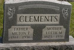 Lottie M Clements