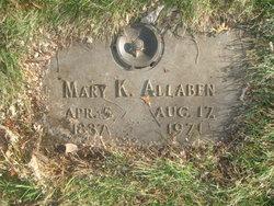 Mary D. <I>Kelly</I> Stevens Allaben