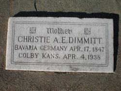 "Christiana Elizabetha ""Christie"" <I>Lang</I> Dimmitt"