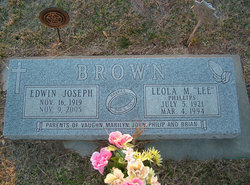 "Leola Marjory ""Lee"" <I>Phillips</I> Brown"