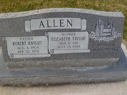 """Elizabeth """"Bessie"""" <I>Taylor</I> Allen"""