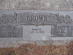 "Sarepta Annette ""Jeanette"" <I>Gatchell</I> Brown"