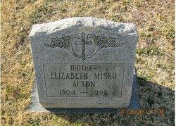 Elizabeth <I>Misko</I> Acton
