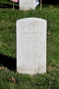Adeline W Robinson