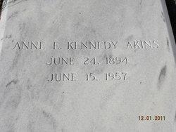 """Anne Elizabeth """"Bessie"""" <I>Kennedy</I> Akins"""