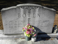 Fannie M. <I>Jones</I> Bowen