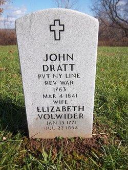 Elizabeth <I>Volwider</I> Dratt
