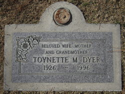 "Toynette Mildred ""Toy"" <I>Nelson</I> Dyer"