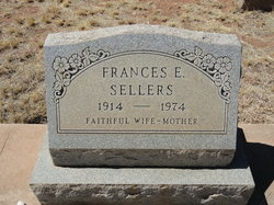 Frances E <I>Jones</I> Sellers