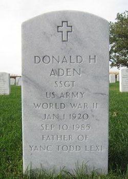 Donald H Aden