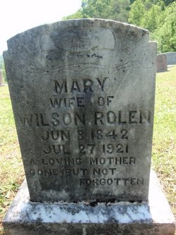 Mary <I>Williams</I> Rolen
