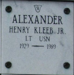 Lieut Henry Kleeb Alexander, Jr