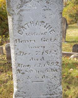 Catharine <I>Dotterer</I> Getz