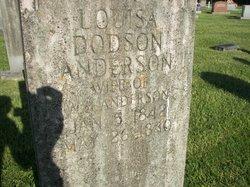 Louisa Frances <I>Dodson</I> Anderson