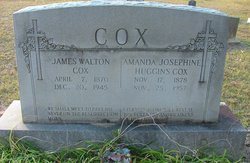 Amanda Josephine <I>Huggins</I> Cox
