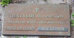 "Gertrude M ""Trudie"" <I>Newton</I> Lawson"