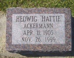 """Hedwig """"Hattie"""" Ackermann"""