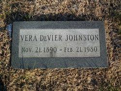 Vera <I>DeVIER</I> Johnston