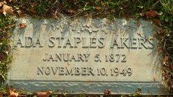 Ada Lee <I>Staples</I> Akers