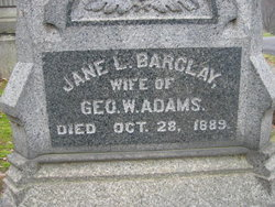 Jane Lemon <I>Barclay</I> Adams