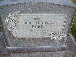 Carol Jean <I>Price</I> Bake
