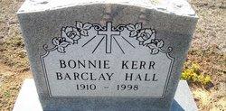 Bonnie Barclay <I>Kerr</I> Hall
