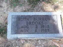 Ruth <I>Burrow</I> Brooks