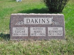 Mary A <I>Worden</I> Dakins